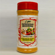Healthy and Nutritional seasoning. Vegan friendly and Paleo friendly. Gluten free and MSG free.