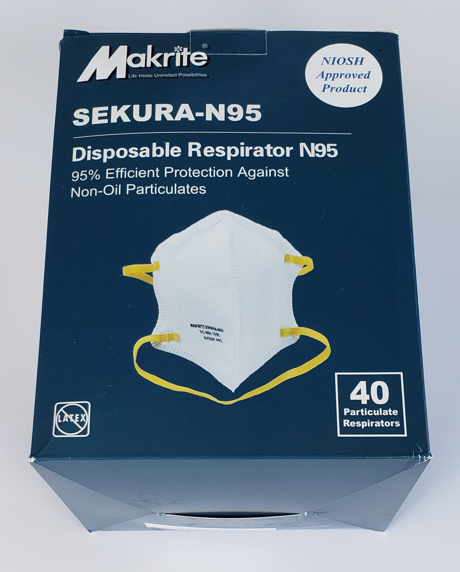 NIOSH N95 Mask with comfortable fit to protcet against the coronavirus